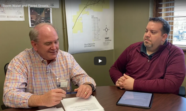 City Superintendent Mac Dunn provides an update on stormwater fixes and street paving